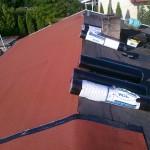 Dom jednorodzinny Wyrazów- krycie papą termozgrzewalną,przedłużanie dachu